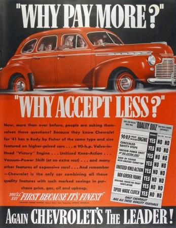 1941 Chevrolet ad