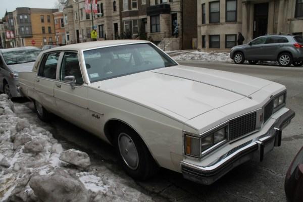 1982 Oldsmobile Ninety-Eight Regency. Wrigleyville, Chicago, Illinois. Sunday, January 3, 2016.