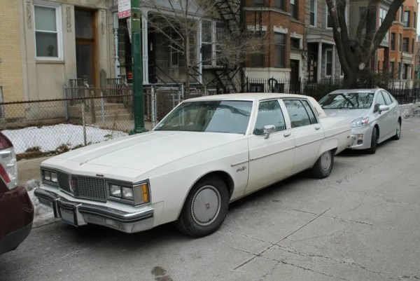 1982 Oldsmobile Ninety-Eight Regency. Wrigleyville, Chicago, Illinois. Sunday, January 3, 2016.