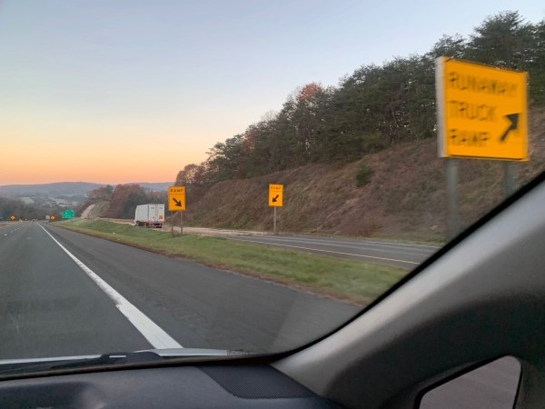 Runaway truck ramp on I-68 in Maryland