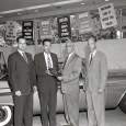 The official caption with this shot is: Columbus, Georgia, Dodge dealers in their showroom with one of the last 1958 models, getting ready for the '59s. No wonder they look […]