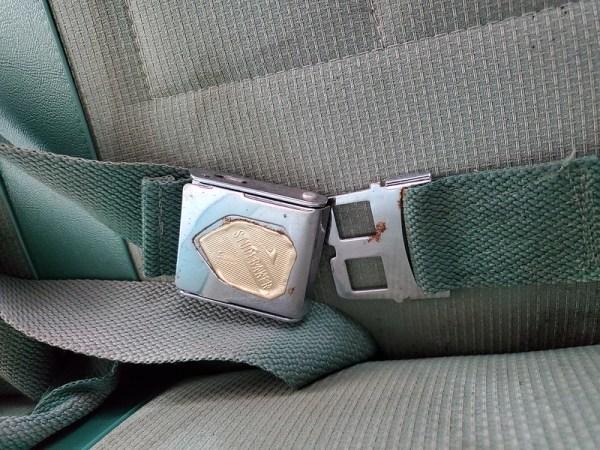 Front seatbelts.