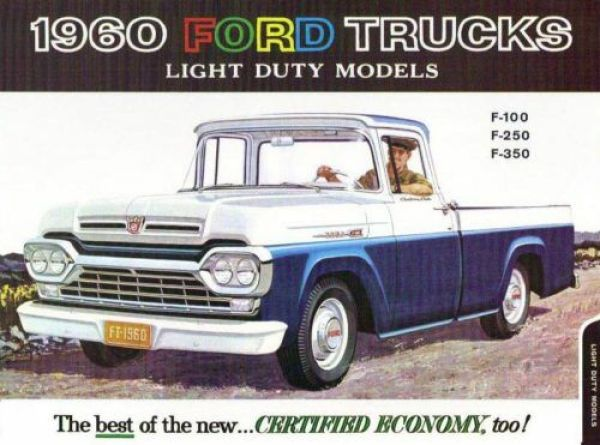 1960 Ford Truck brochure cover, as sourced from the internet.