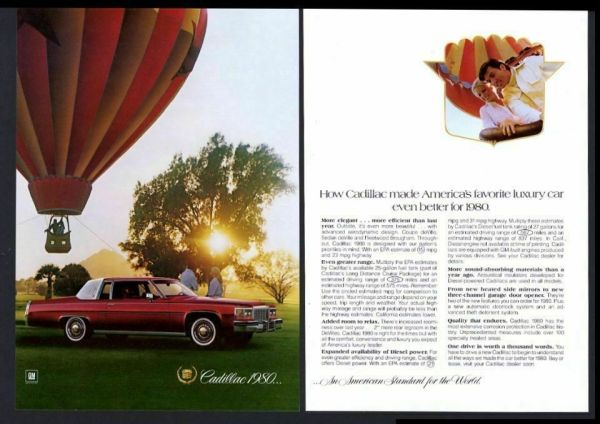 1980 Cadillac Coupe DeVille print advertisement, as sourced from the internet.