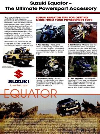 2009 Suzuki Equator ad