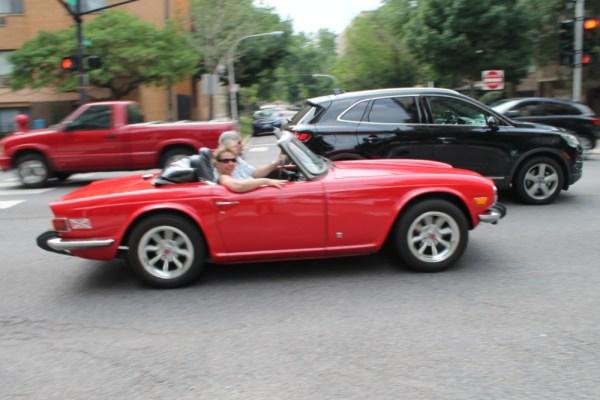 1975 Triumph TR6. Edgewater, Chicago, Illinois. Sunday, July 24, 2016.