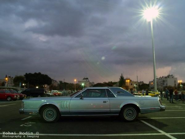 light blue Lincoln Continental Mark V