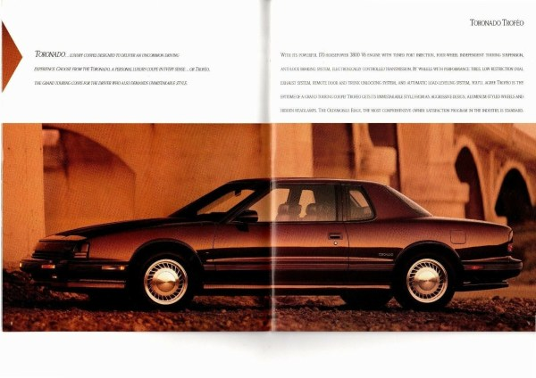 1991 Oldsmobile Toronado brochure photo, as sourced from the internet.