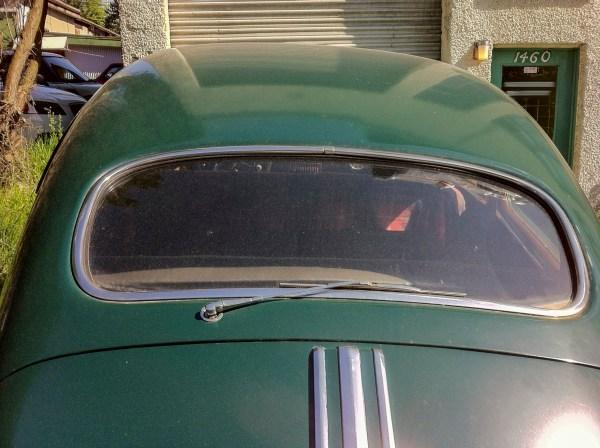 1948 Pontiac backglass with wiper