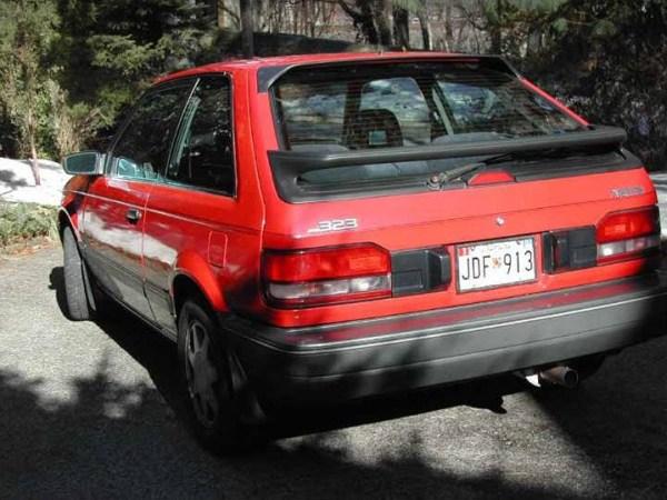 1988 Mazda 323 GTX left rear
