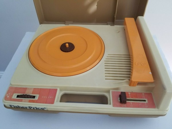 Fisher-Price turntable record player picture, as sourced from the internet.