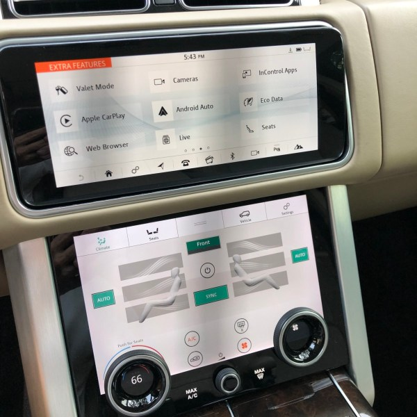 Center screens 2018 Range Rover