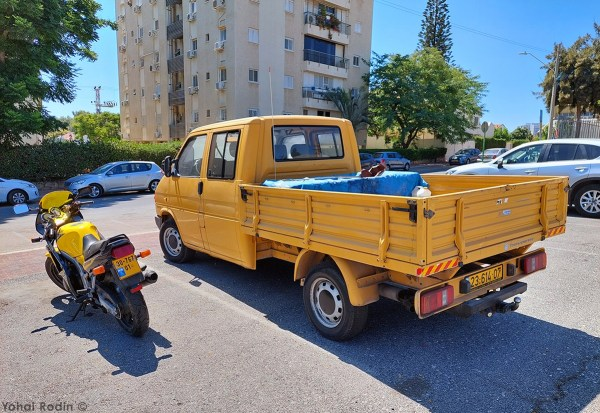 1992 Yellow VW T3 Pickup, 1999 Suzuki GS500