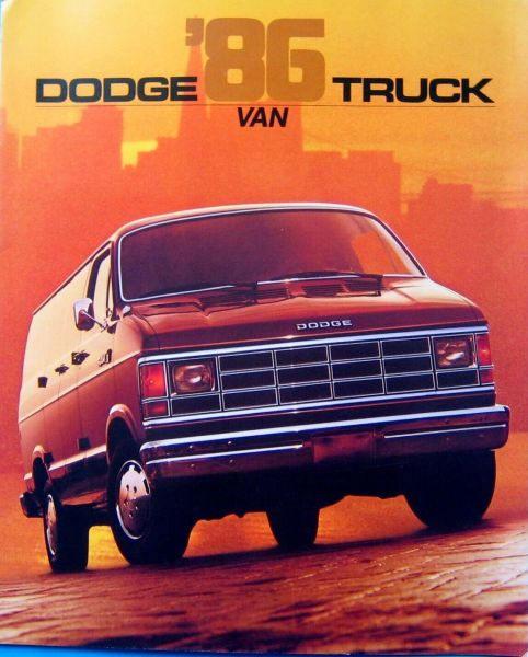 1986 Dodge Ram Van brochure photo, as sourced from the internet.