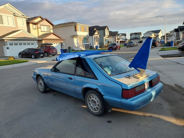 Car with wing pre challenge.