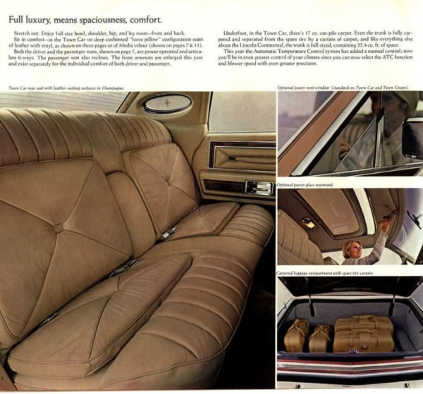 1978 Lincoln Continental brochure photo, as sourced from www.oldcarbrochures.com.
