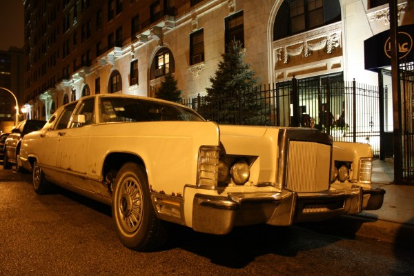 1978 Lincoln Continental Town Car. Edgewater, Chicago, Illinois. Sunday, January 6, 2013.