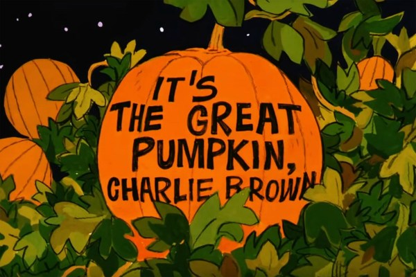 It's The Great Pumpkin, Charlie Brown - title card.