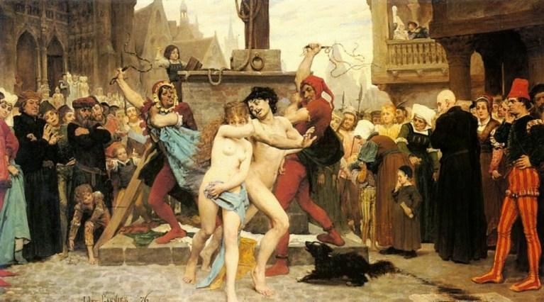 Sous l'Ancien Régime, les maris cocus étaient condamnés à monter un âne, nus …