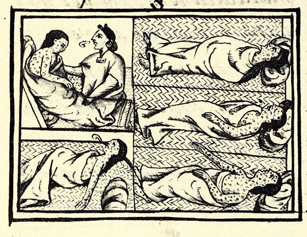 Dessin aztèque provenant du Codex de Florence