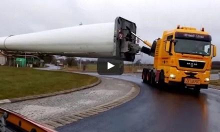 Cómo transportar por carretera una pieza de 73 metros