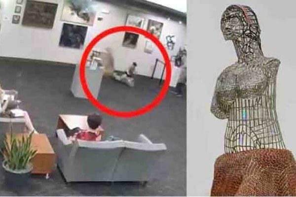 niño rompe estatua con un valor de 114000 euros