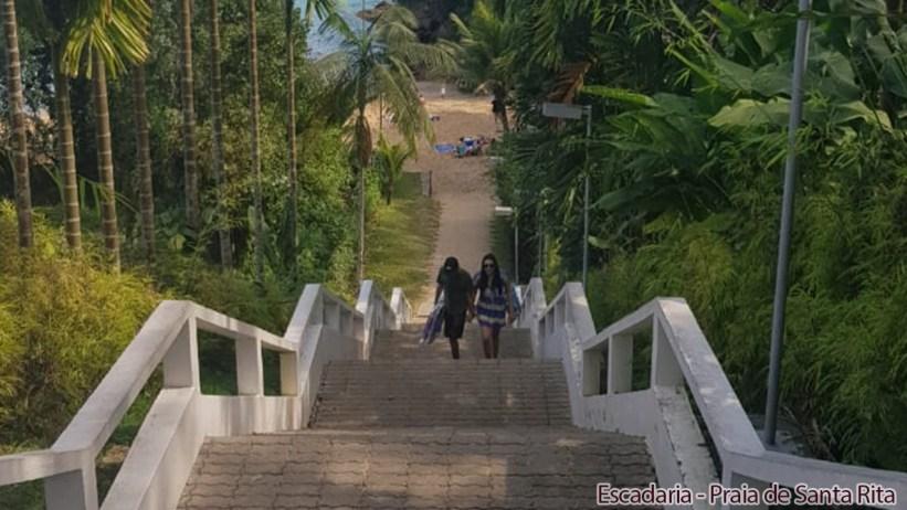 Escadaria - Praia de Santa Rita