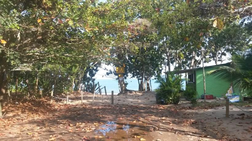 Praia da Ponta Aguda entrada