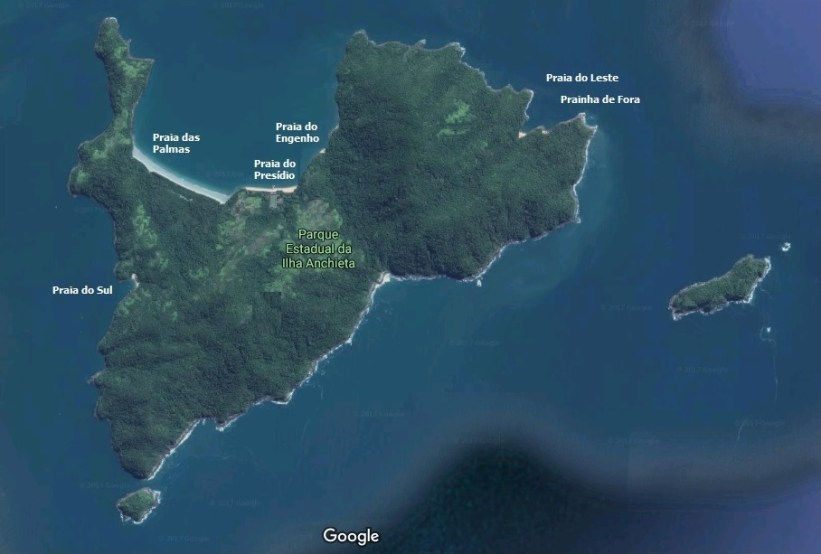 Ilha Anchieta - Mapa