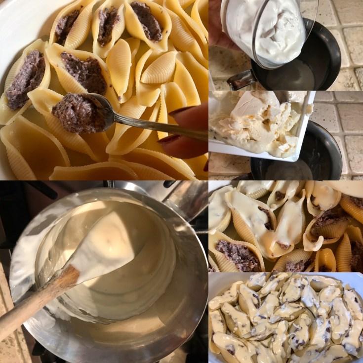 Conchiglioni Radicchio, Gorgonzola e Zucca caramellata,