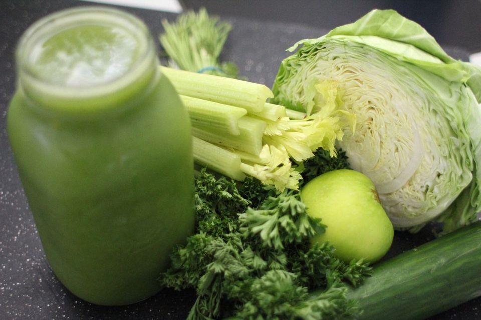 Batidos detox verdura