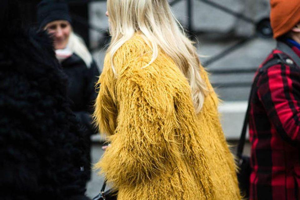 Abrigo de pelo y borrego
