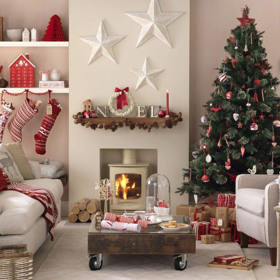 decoración en blanco y rojo