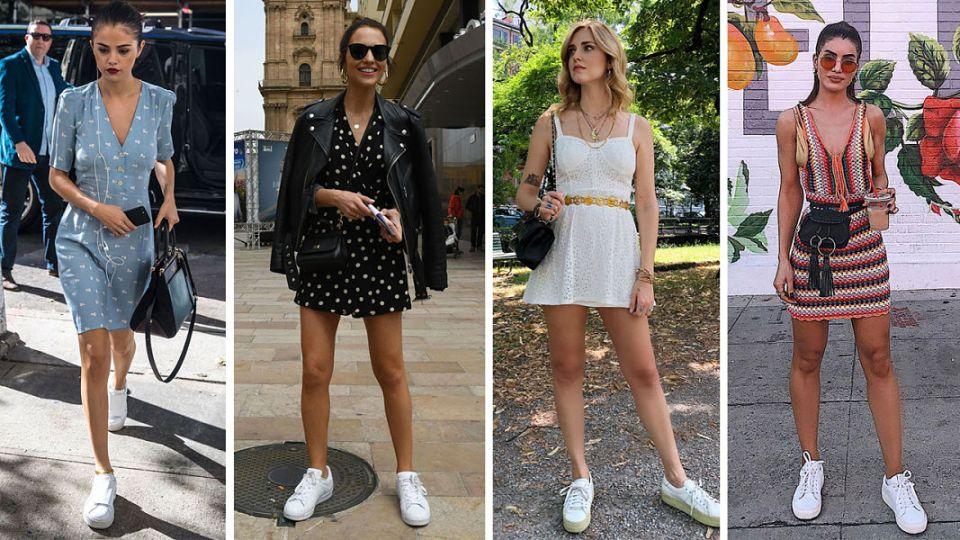 Conjuntos de vestidos con zapatillas