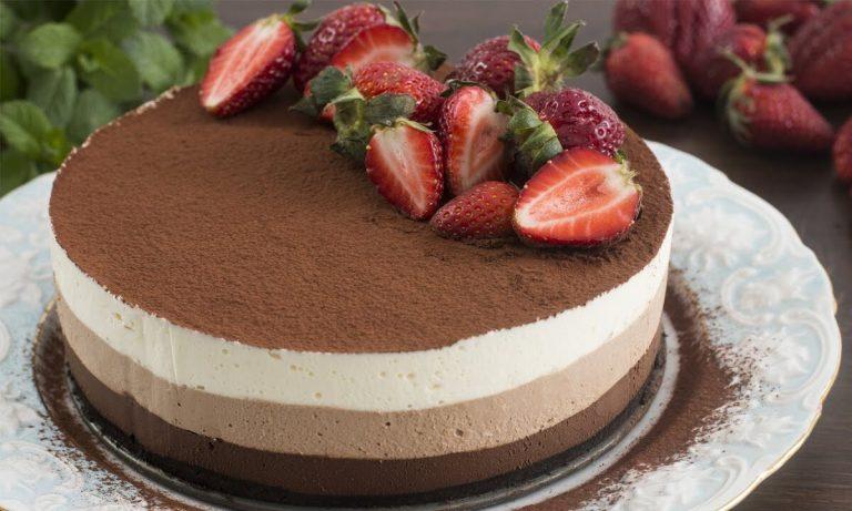 recetas de tarta tres chocolates