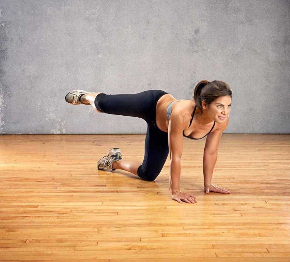 Perrito, un ejercicio para tonificar zona de glúteos