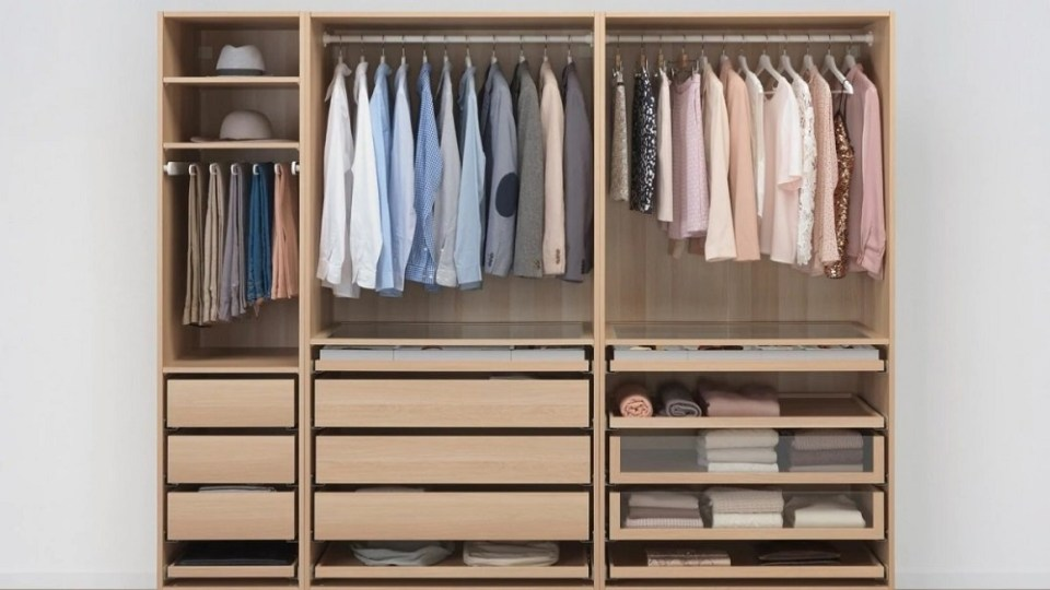 Cómo ahorrar espacio en armarios con Ikea