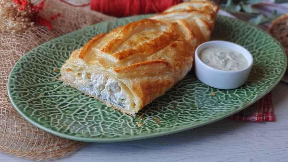 lubina wellington, uno de los platos principales para la cena de Nochevieja más originales