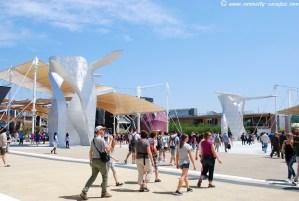 Sculptures contemporaines à l'Expo de Milan