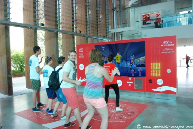 Just Dance au Pavillon Coca-Cola de l'Expo Milan 2015