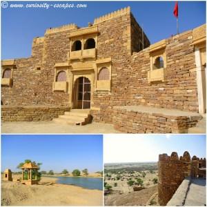 Fort abandonné et oasis dans le désert du Rajasthan