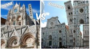 comparaison Duomo de Sienne avec Florence