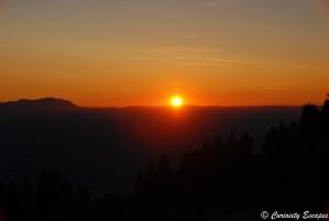 Coucher de soleil sur Chamrousse