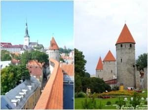 remparts de tours médiévales de Tallinn
