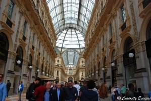 Entrée des Galeries Vittorio Emanuele de Milan