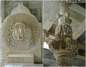 Gravures au temple de Ranakpur