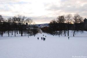 Oslo sous la neige à Noël
