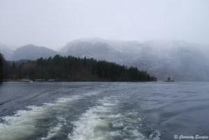 Fjord de Bergen à Mostraumen, Norvège