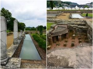 Camp romain au milieu des vestiges du musée gallo-romain de Vienne