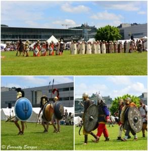 Défilé de légions romaines et gauloises des quatre coins de l'Europe à Vienne